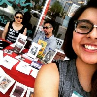 Sara, Richie, and Samantha tabling for Third Woman Press in San Antonio!